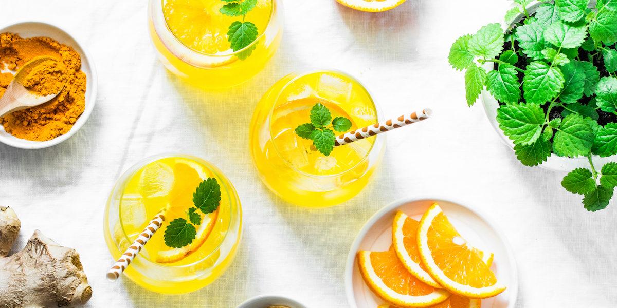 Refreshing, anti inflammatory turmeric Lemonade - AM